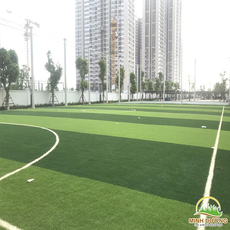 Quy trình thi công cỏ nhân tạo làm sân bóng đá chuẩn 4